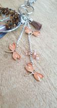 Porte clés/Bijoux de sac  Arbre de Vie Libellules Oranges