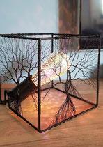 Lampe à poser Arbre de vie structure métal Noire
