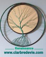 """Arbre de vie """" Renaissance"""" sur miroir"""