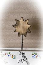 9 zackiger Stern mit Stab