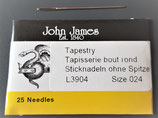 Sticknadel John James Nr. 24 ohne Spitze