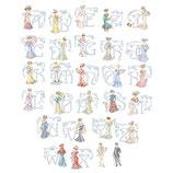 les Brodeuses Parisiennes Belle époque » Alphabet Chart