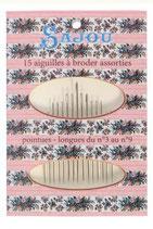Sajou Nadelmäppchen mit 15 hochwertigen Sticknadeln