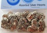 Knopf div. Hersteller Silver Hearts