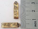 Charm Metermaß altgold