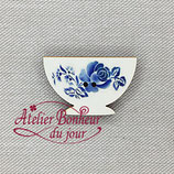 Knopf Digion Schale Rose blau