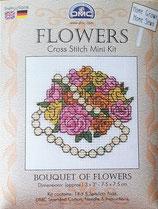 DMC mini Stickpackung Blumen