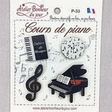 Knopfkollektion P-33 Klavierunterricht