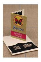 Sajou Kärtchen mit 6 Nadeln zum Filznähen