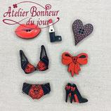 Knopfkollektion B-15 Moulin Rouge