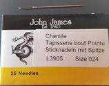 Sticknadel John James Nr. 24 mit Spitze