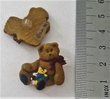 Knopf div. Hersteller Teddy mit Puppe