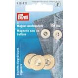 Prym Magnet-Annähknöpfe, 19mm, silberfarbig