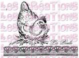 Bügeltransfer Huhn