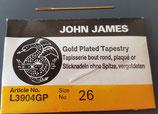 Sticknadel John James Nr. 26 vergoldet ohne Spitze