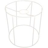RICO Lampenschirmrohling Metall weiß