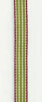 Dänisches Schmuckband beige-grün-rot gestreift