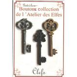 Atelier des Elfes Knopf drei Schlüssel