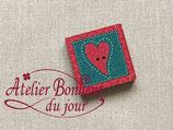 Knopf  mini Patch Herz
