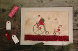 Madame Chantilly Santa on the bike