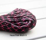 Neon Pink Black X