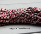 Burgundy/Cream Diamond