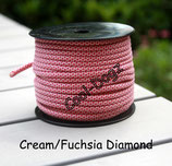 Cream/Fuchsia Diamond