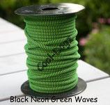Black/Neon Green Waves