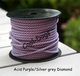 Acid Purple/Silver Grey Diamond
