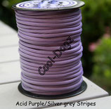 Acid Purple/Silver grey Stripes