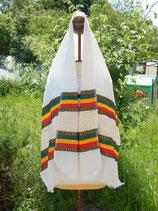 Echarpe Netela Ethiopienne tissée à la main, modèle 8