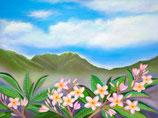 【211-0104】ハワイアンアート(Pink Plumerias Nuuanu)