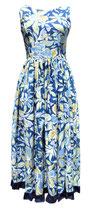 【111-0003】SALE タンクギャザードレス(ブルー)