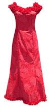【111-0023】SALE  フリルネックドレス(レッド)