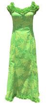 【111-0024】SALE  フリルネックドレス(ライム)