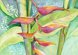 【184-0024】Hawaiian art (Rainbow Heliconia)