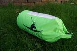 Kai de Meer Packsack mit Sichtfenster grün