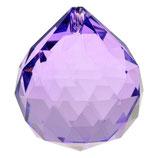 regenboog kristal bol paars