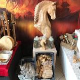 uniek handgemaakt houten paard