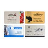 Alu-Visitenkarten, Größe 54 x 85 x 0,5 mm - 10 Stück