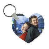 Schlüsselanhänger Herz/Rund - 2 Stück