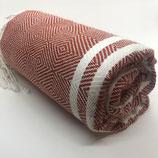 Hammam Handtuch rot, Unikat die Farbe kann variieren