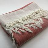 Hammam Handtuch Rot/Beige