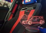 3D Schild beleuchtet Civic Type R (FK2, FK8, FN2)