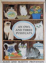 AN OWL AND THREE PUSSYCATS  みみずくと3びきのこねこ アリス&マーティン・プロヴェンセン