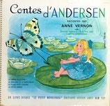 contes d'ANDERSEN un livre-disque le petit  ménestrel アンデルセン レコード付