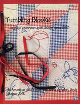 Tumbling Blocks vintage American quilt design circa 1930