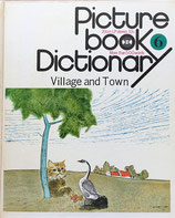 Picture book Dictionary6 Village and Town 20cm LP stereo33 1/3 More than word 小沢良吉