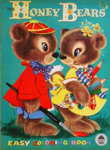 The HONEY BEARS' EASY COLORING BOOK  MERRILL 2537