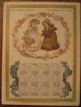 ケイト・グリーナウェイ カレンダー KATE GREENAWAY'S CALENDAR FOR 1884 オズボーンコレクション